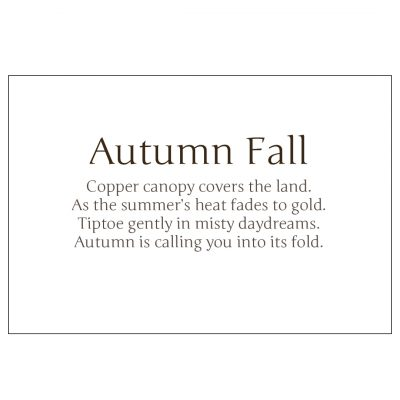 Poem from Autumn fall