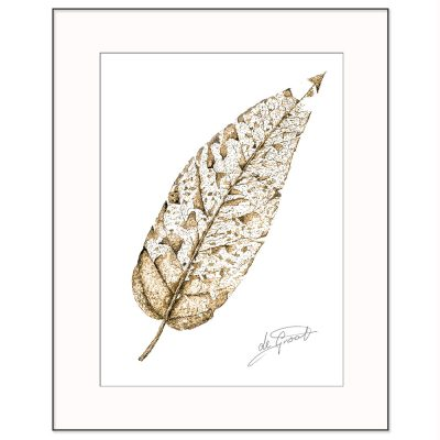 Be Leaf is a fine line pen and ink drawing on paper by deGroot-Arts