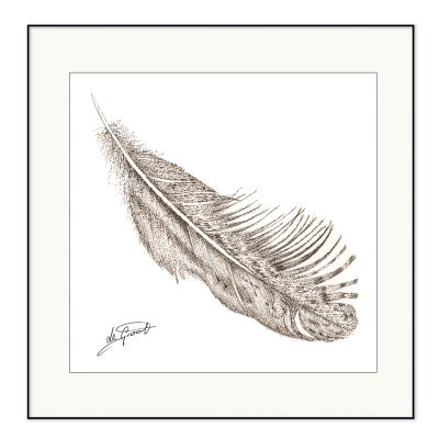 Free Falling 1 is a fine line pen and ink drawing on paper by deGroot-Arts