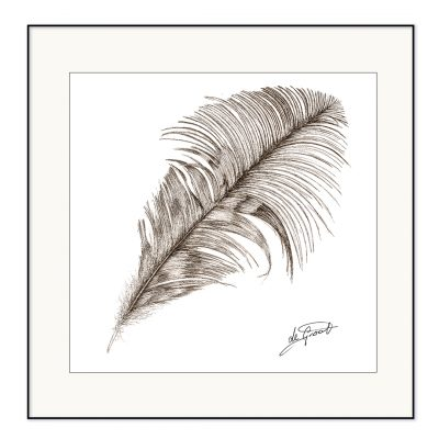 Free Falling 2 is a fine line pen and ink drawing on paper by deGroot-Arts
